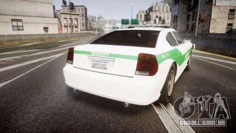 Bravado Buffalo Police [ELS] para GTA 4 traseira esquerda vista