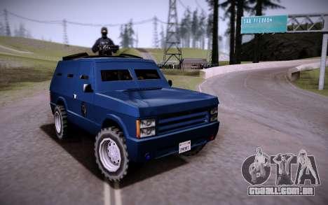 O Carro Blindado. para GTA San Andreas