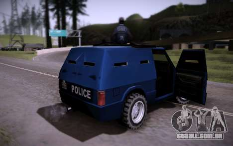 O Carro Blindado. para GTA San Andreas vista traseira