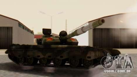 Type 99 para GTA San Andreas esquerda vista