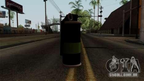 Original HD Tear Gas para GTA San Andreas segunda tela