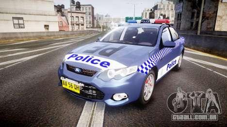 Ford Falcon FG XR6 Turbo NSW Police [ELS] para GTA 4
