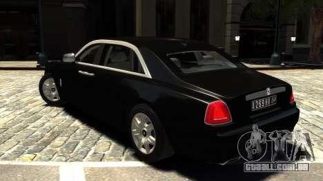 Rolls-Royce Ghost 2013 v1.0 para GTA 4 traseira esquerda vista