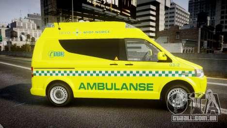 Volkswagen Transporter Norwegian Ambulance [ELS] para GTA 4 esquerda vista
