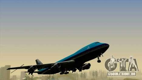 Boeing 747-200B KLM para GTA San Andreas vista direita