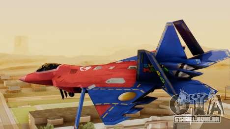 F-22 Raptor MARIO para GTA San Andreas esquerda vista