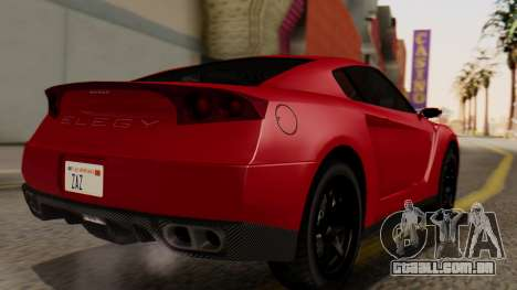 GTA 5 Annis Elegy RH8 IVF para GTA San Andreas esquerda vista