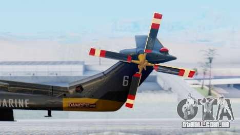 Westland SH-14D Lynx para GTA San Andreas traseira esquerda vista