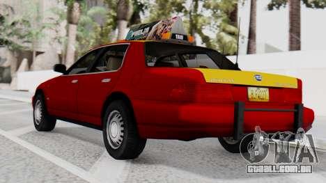 Dolton Broadwing Taxi para GTA San Andreas esquerda vista