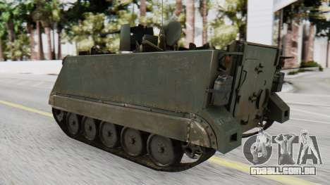 M113 from CoD BO2 para GTA San Andreas esquerda vista