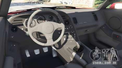 GTA 5 Toyota Supra RZ 1998 vista lateral direita