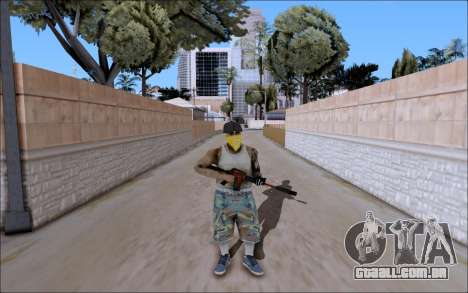 M4A1 Crimzone para GTA San Andreas segunda tela