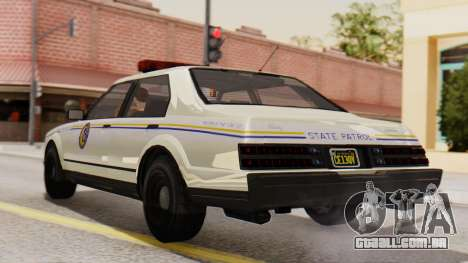 GTA 5 Albany Esperanto Police Roadcruiser IVF para GTA San Andreas esquerda vista