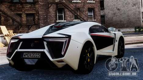 Lykan Hypersport 2015 EPM para GTA 4 esquerda vista