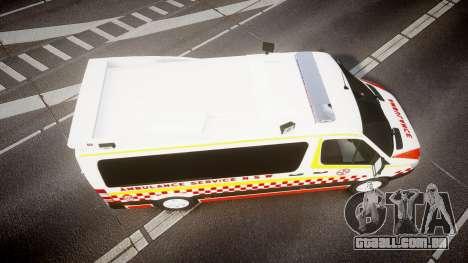 Mercedes-Benz Sprinter NSW Ambulance [ELS] para GTA 4 vista direita