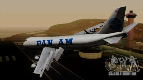 Boeing 747 PanAm para GTA San Andreas esquerda vista
