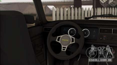 VAZ 2107 Avtosh Style para GTA San Andreas vista interior