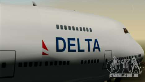 Boeing 747 Delta para GTA San Andreas vista direita