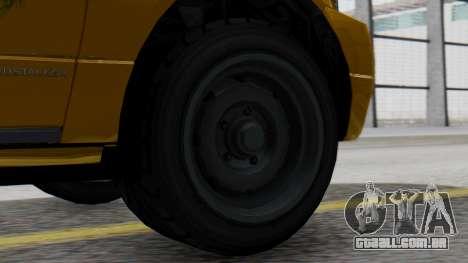 Vapid Landstalker Taxi SR 4 Style para GTA San Andreas traseira esquerda vista
