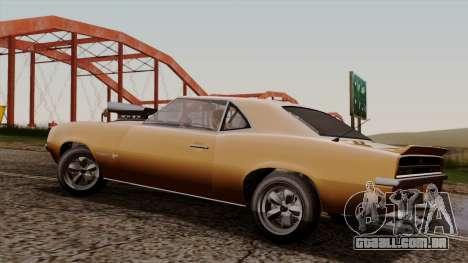 GTA 5 Declasse Vigero para GTA San Andreas traseira esquerda vista