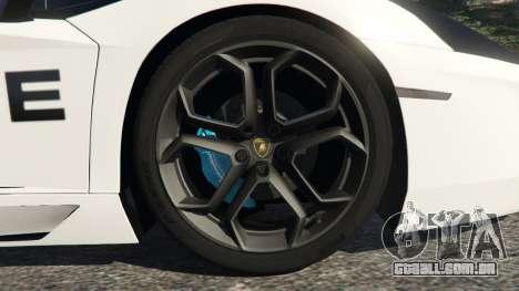GTA 5 Lamborghini Aventador LP700-4 Police v3.5 voltar vista