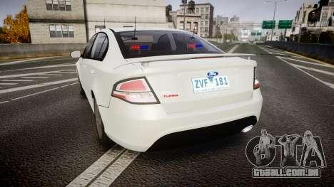Ford Falcon FG XR6 Turbo Unmarked Police [ELS] para GTA 4 traseira esquerda vista