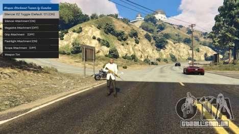 Ajuste de acessórios para armas 1.1 para GTA 5