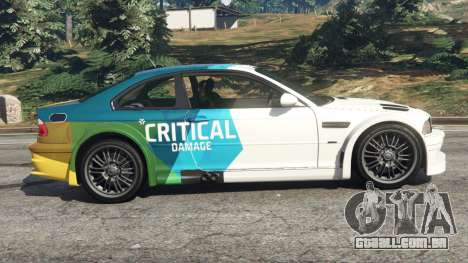 GTA 5 BMW M3 GTR E46 PJ1 vista lateral esquerda