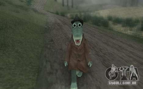Crocodilo Gena para GTA San Andreas terceira tela