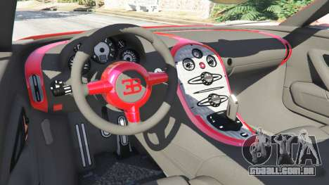 GTA 5 Bugatti Veyron Grand Sport traseira direita vista lateral