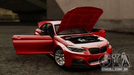BMW M235i F22 Sport 2014 para GTA San Andreas vista superior