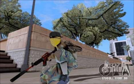 M4A1 Crimzone para GTA San Andreas terceira tela