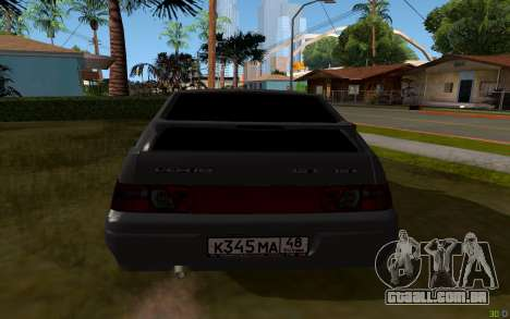 VAZ 2112 Lipetsk para GTA San Andreas traseira esquerda vista