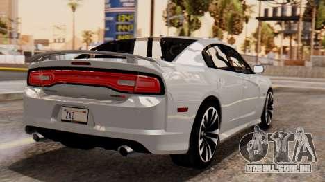 Dodge Charger SRT8 2012 LD para GTA San Andreas esquerda vista