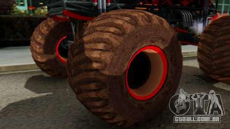The Seventy Monster para GTA San Andreas traseira esquerda vista