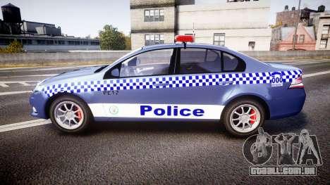 Ford Falcon FG XR6 Turbo NSW Police [ELS] para GTA 4 esquerda vista