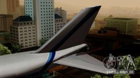 Boeing 747 Eastern para GTA San Andreas traseira esquerda vista