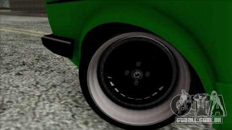 Volkswagen Golf Cabrio VR6 para GTA San Andreas traseira esquerda vista