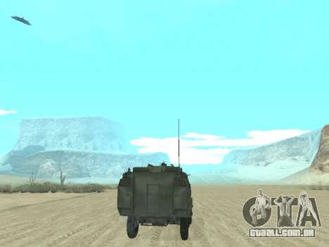 A APC 40 para GTA San Andreas vista inferior