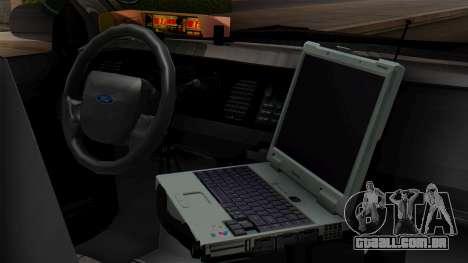 Police LV 2013 para GTA San Andreas vista traseira