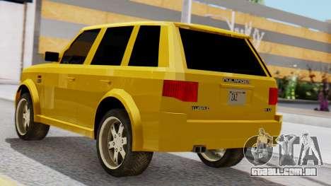 Nulander Kurai para GTA San Andreas esquerda vista