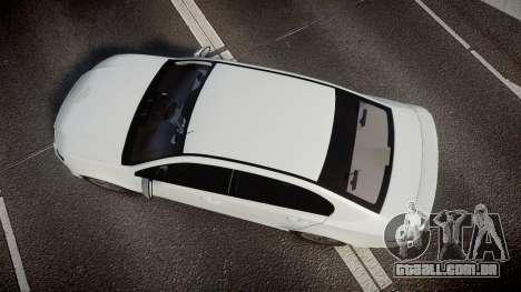Ford Falcon FG XR6 Turbo Unmarked Police [ELS] para GTA 4 vista direita