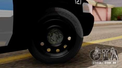 Police LV 2013 para GTA San Andreas traseira esquerda vista