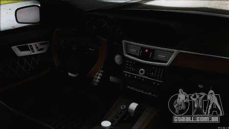 Mercedes-Benz E63 Brabus BUFG Edition para GTA San Andreas vista superior