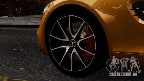 Mercedes-Benz SLS AMG GT 2016 para GTA 4 traseira esquerda vista