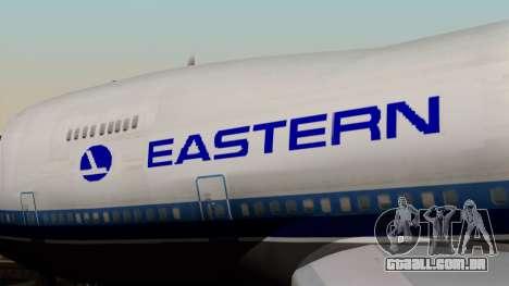 Boeing 747 Eastern para GTA San Andreas vista traseira