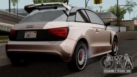 Audi A1 Quattro Clubsport para GTA San Andreas esquerda vista