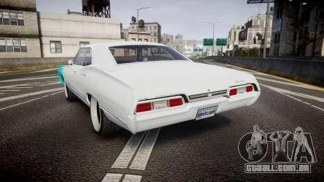 Chevrolet Impala 1967 Custom livery 1 para GTA 4 traseira esquerda vista