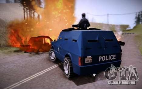 O Carro Blindado. para GTA San Andreas traseira esquerda vista