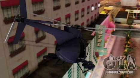 GTA 5 Buzzard para GTA San Andreas traseira esquerda vista